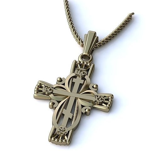 cross pendant 3d model 3dm 1