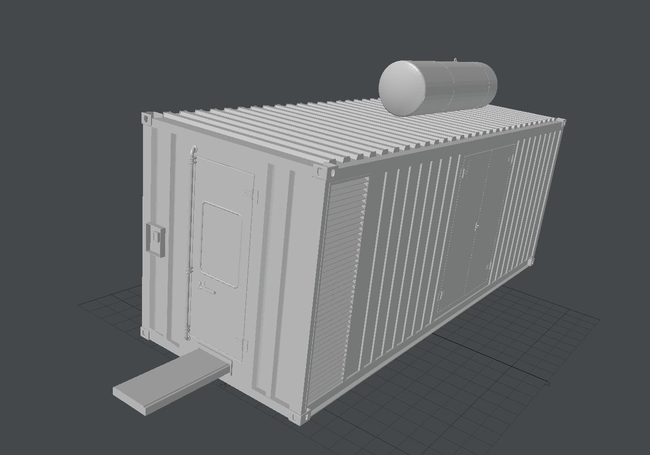 3d model construction container vr ar low poly 3ds lwo for Construction container