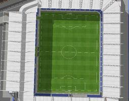 High detailed Football Field 3D model
