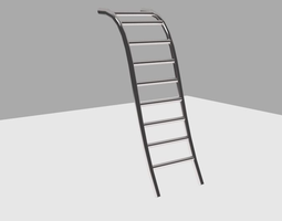 steel swimming pool type ladder 3d