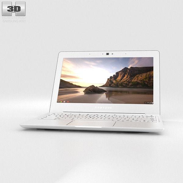 samsung 11 6 chromebook. samsung chromebook 2 11-6 inch classic white 3d model max obj 3ds fbx c4d 11 6