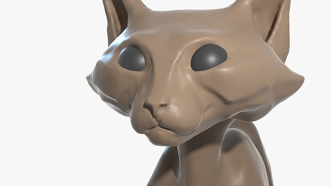 Kitty In A Blender ~ Cat high poly blender d cgtrader