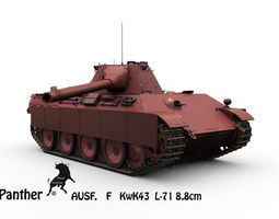 Panther Ausf F  KwK43 L71 88mm 3D Model