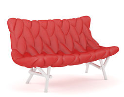 Red Modern Sofa 1 3D