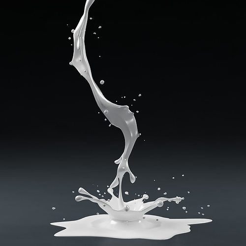 splash 01 milk 3d model max obj mtl fbx 1