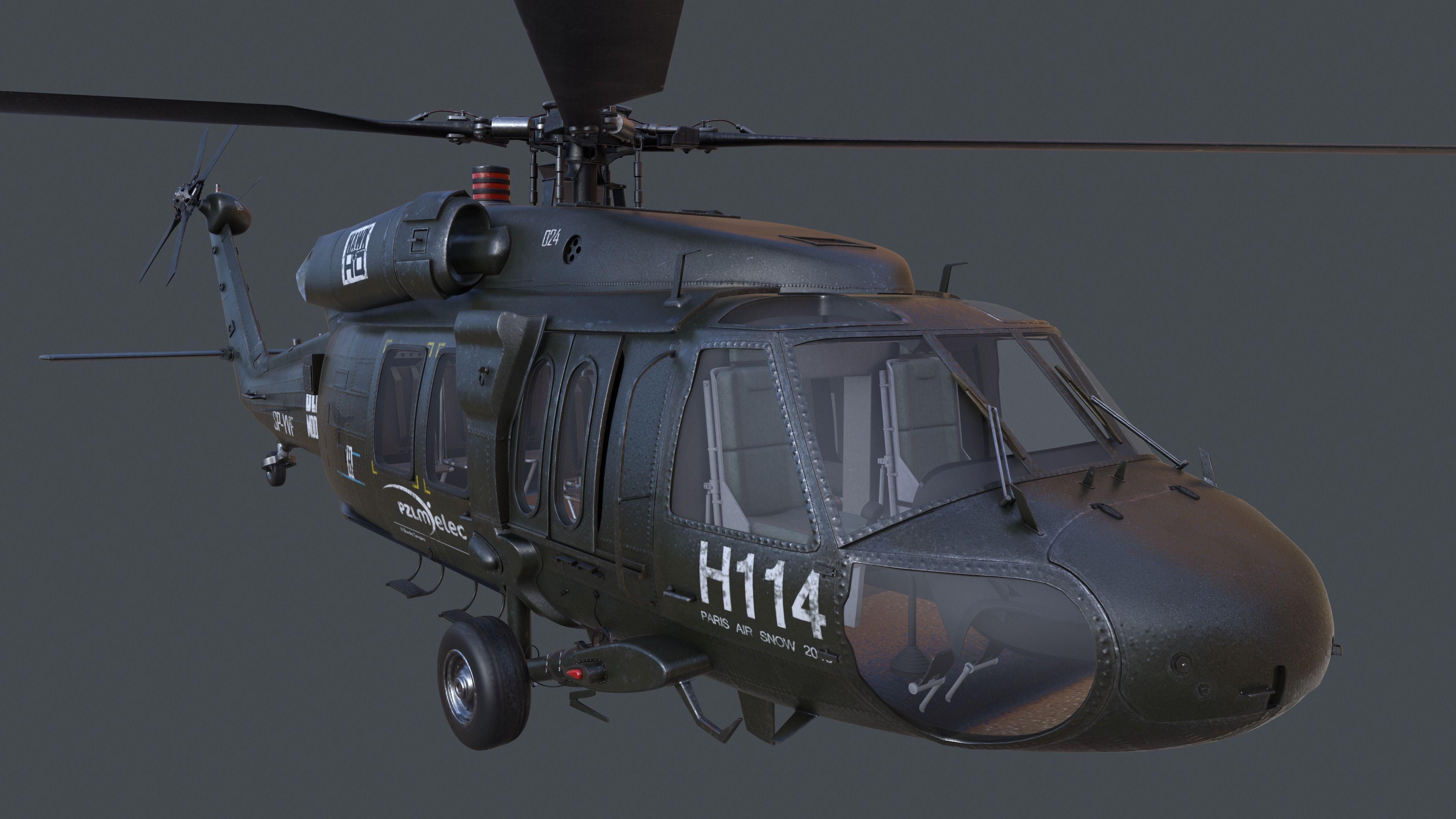 MH 60 3D Model .max .obj .fbx .c4d .ma .mb - CGTrader.com