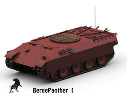 bergepanther 3d model max obj fbx