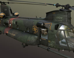 rigged chinook mh-47 3d