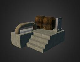 Industrial Plataform 3D model