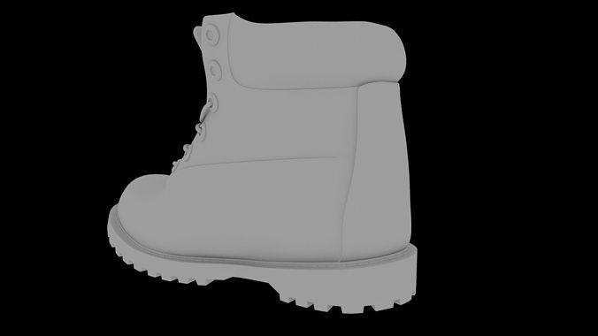 boot of tupac 3d model obj fbx ma mb mtl 1