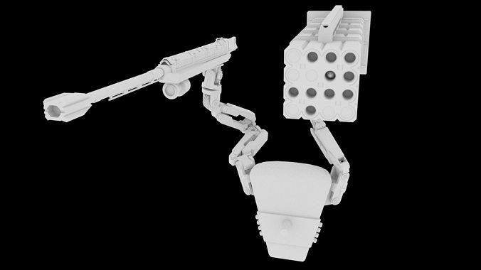 edge of tomorrow weapon 3d model obj fbx ma mb mtl 1