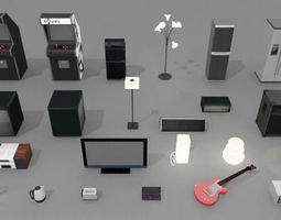 gadgets and electronics pack game-ready 3d asset