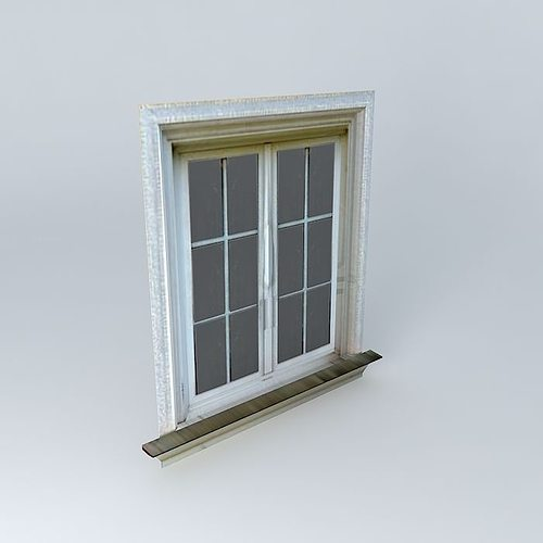 3d low poly window cgtrader for Window 3d model