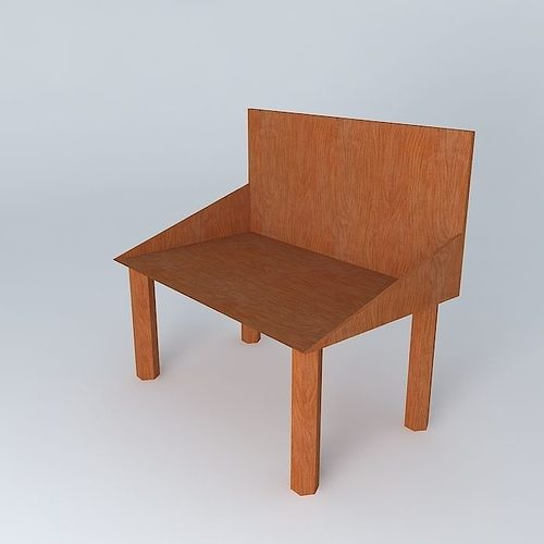 an outdoor chair. 3d model max obj 3ds fbx stl dae 1