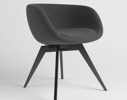 Scoop Low Chair 3D