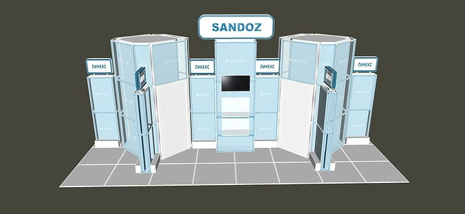 Portable Toilet Exhibition : 3d the exhibition portable t3 cube stand 3 cgtrader