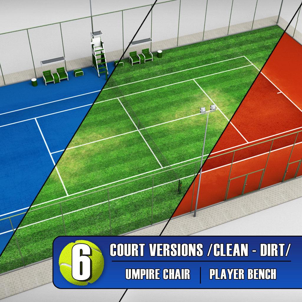 Tennis court stadium arena pack