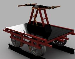 Hand Car Pump Trolley 3D print model