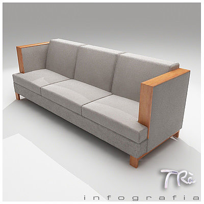 ... Living High Arm Sofa 3d Model Max 3 ...