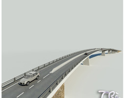 roadway bridge 3d model