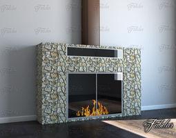 3d model Fireplace rooom