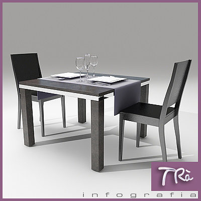 3d model restaurant bar table 2 cgtrader. Black Bedroom Furniture Sets. Home Design Ideas