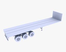 truck trailer  3d model realtime