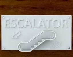 3d Printable Escalator sign STL OBJ 3D Model