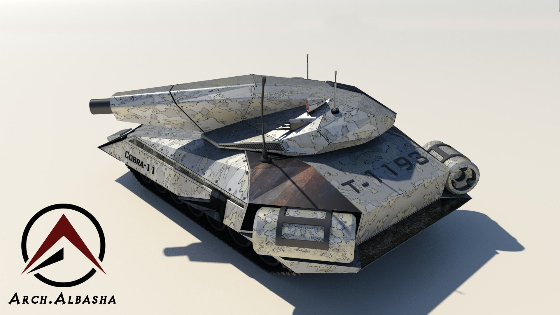 Future Tank 3d Model Low Poly Max Obj Mtl 3ds Fbx 5