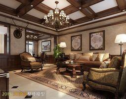 Modern luxury living room design 239 3D Model