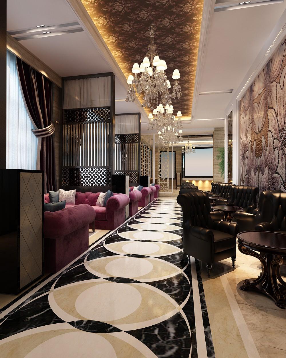 Hotel restaurant interior d model max cgtrader
