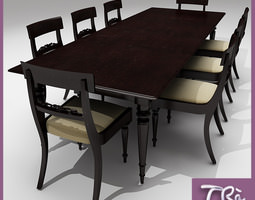 CLASSIC DINER TABLE 3D model