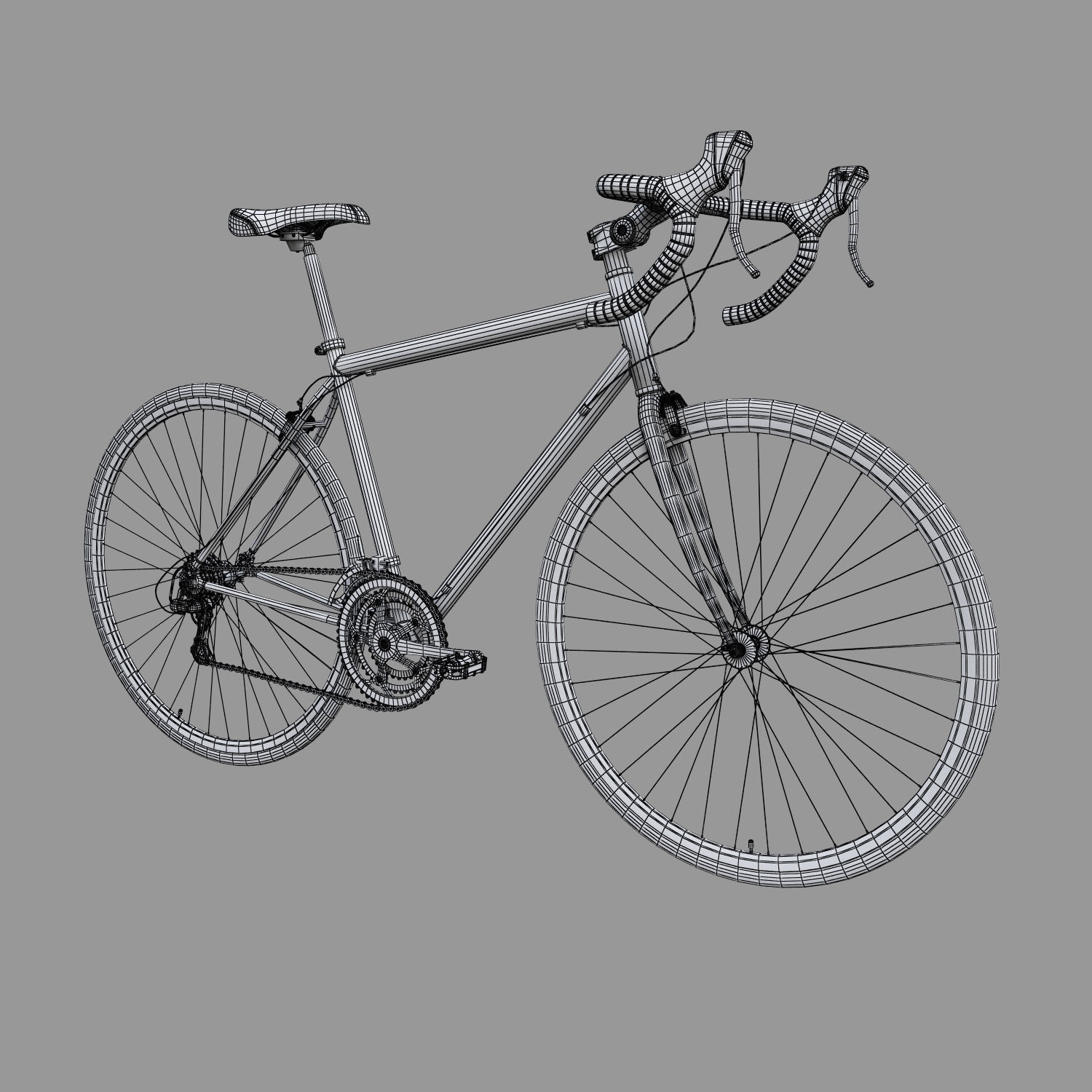 road bike 3d model max obj 3ds