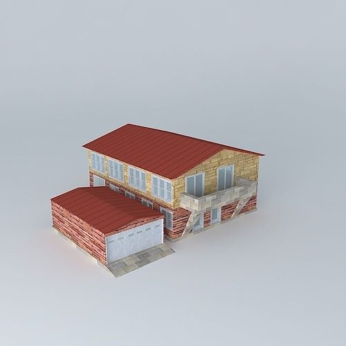 Low Poly Typical Family House/Condominium