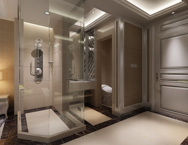 Photoreal bathroom 3d model cgtrader for Model bathrooms pictures