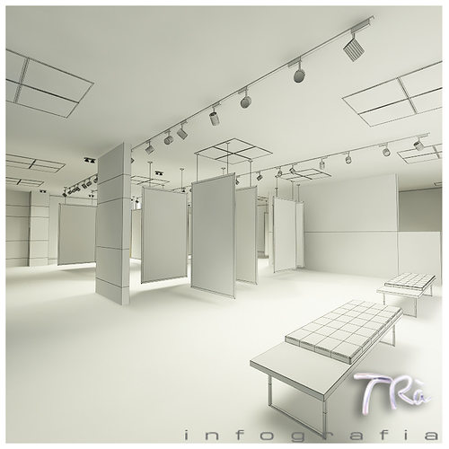Exhibition Room D : Exhibition office room d model max tga cgtrader