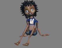3D Cartoon girl 1