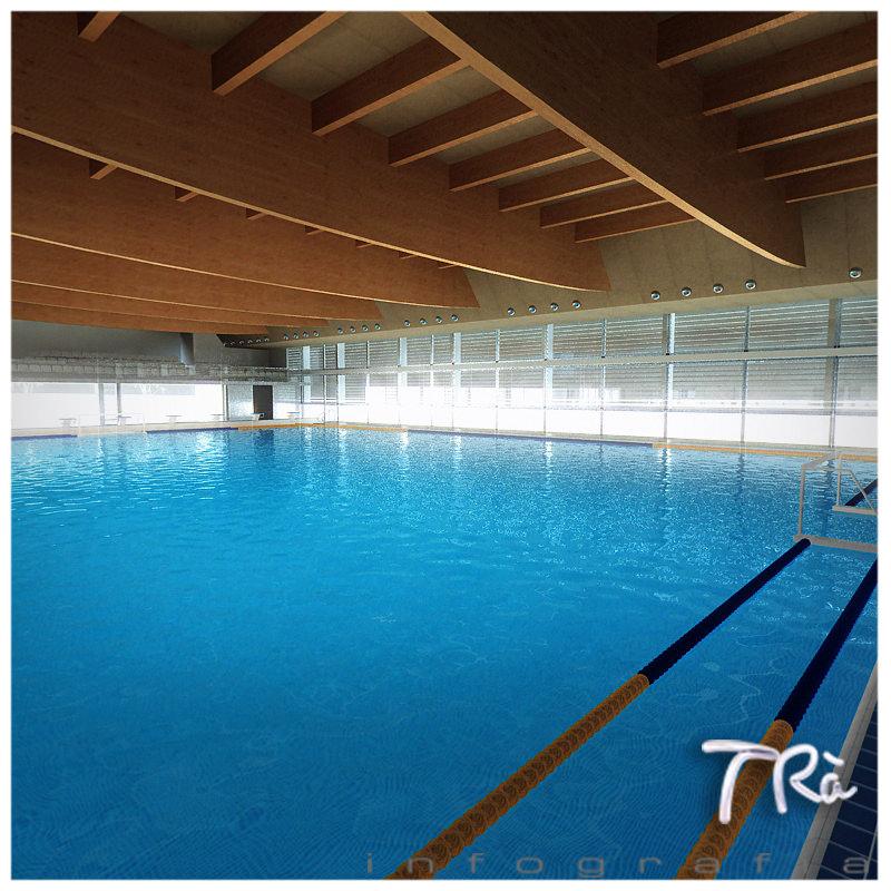 Indoor Pool Complex 3d Model Max