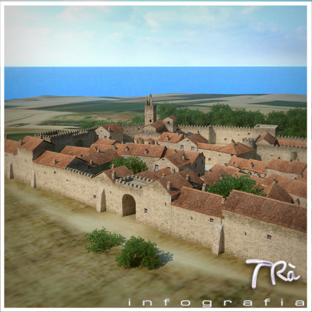 Walled Medieval Town 3d Model Max Cgtrader Com