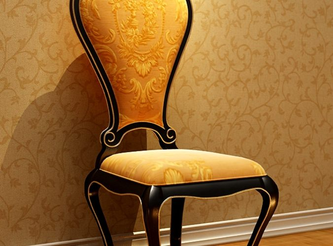 Classic Black Wood ChairModel MAX