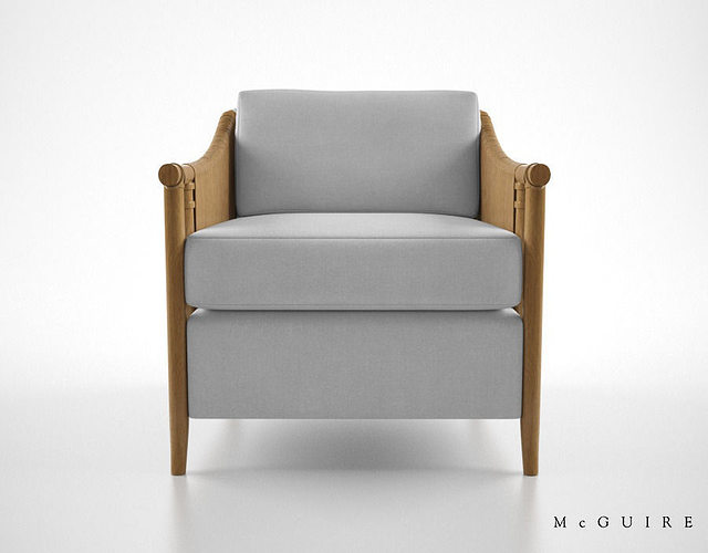 mcguire furniture bill sofield jolie lounge chair 3d model max obj mtl fbx 1