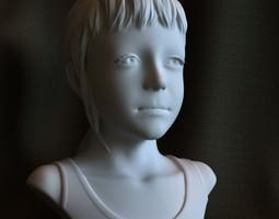 3d printable sculpture Sarah STL OBJ 3D Model