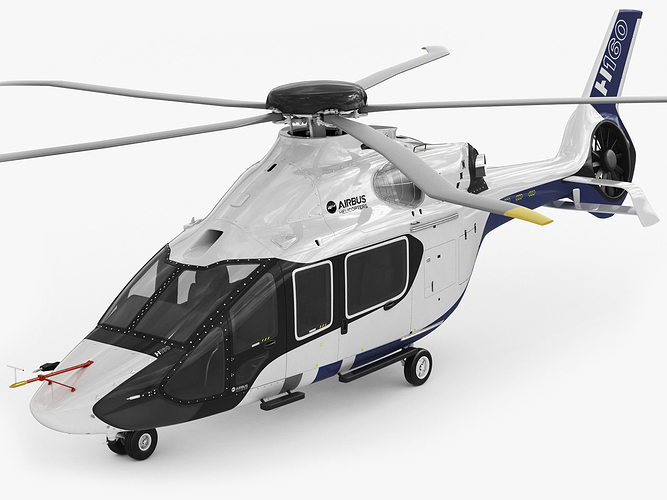 airbus helicopter h160 3d model rigged max obj 3ds fbx c4d lwo lw lws 1