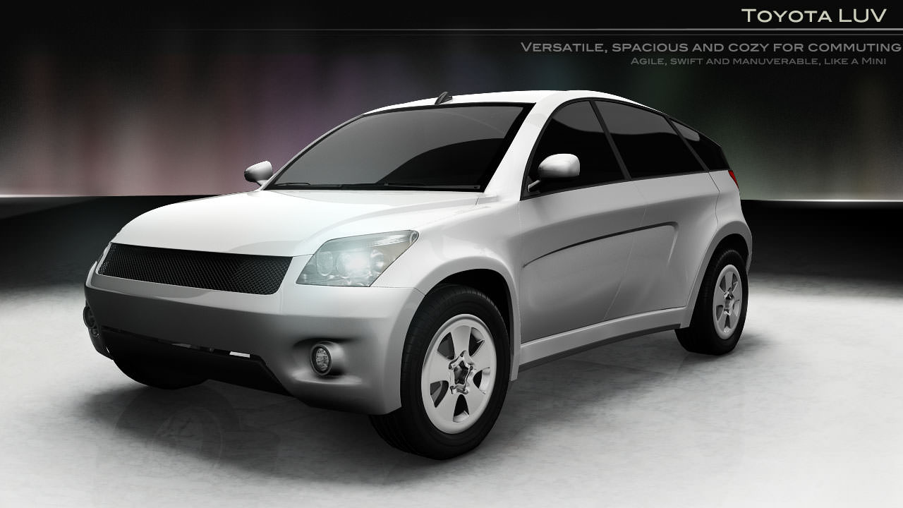 3D Model Car Toyota SUV Google Car AAA VR / AR / Low-poly