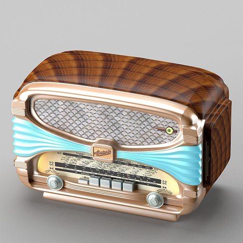 3d model retro radio in art deco style cgtrader for Style retro deco