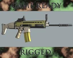 Assault Rifle 3D Model