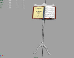3D model Music Reading Stand AAA