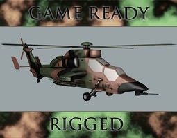 battle helicopter 3d model fbx