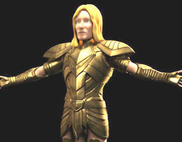Shadiro Knight of the Round Table AAA 3D model rigged