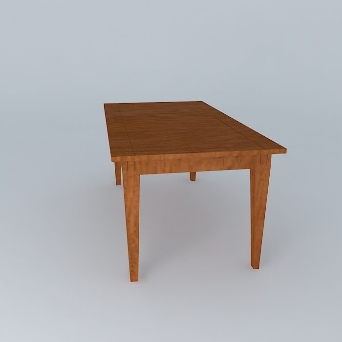 Dining table dining table free 3d model max obj 3ds fbx for Dining room table 3ds max